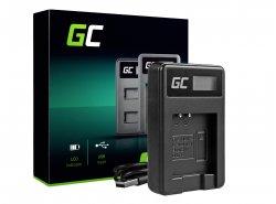 Kamera Akku-Ladegerät LI-50C Green Cell ® für Olympus LI-50B, SZ-15, SZ-16, Tough 6000, 8000, TG-820, TG-830, TG-850