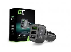 3 USB-autolader met snellaadbare Green Cell