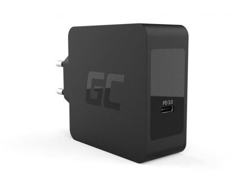 Green Cell USB-C 60 W PD-oplader met USB-C-kabel voor Apple MacBook Pro 13, Asus ZenBook, HP Spectre, Lenovo ThinkPad en anderen