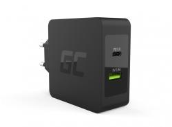 Green Cell 45W USB-C PD-lader met USB-C-kabel en extra USB-poort