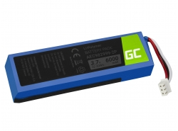 Batterij Green Cell ® AEC982999-2P AEC9829992P voor Bluetooth luidspreker JBL Charge 1 Charge 2, Li-Polymer 3.7V 6000mAh