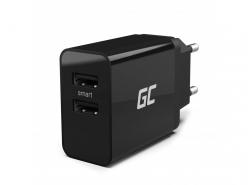 Universele oplader Green Cell ® met snellaadfunctie 2 USB-poorten