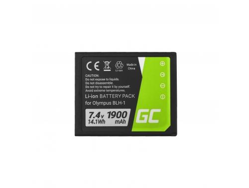 Green Cell ® Camera accu BLH-1 voor Olympus OM-D E-M1 Mark 2 7.4V 1900mAh