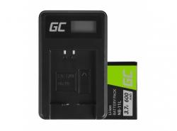 Green Cell Laptop Akku NB-11L und Ladegerät CB-2LD für Canon IXUS 125 HS 285 HS PowerShot A2300 PowerShot ELPH