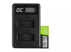 Green Cell ® Akku und Ladegerät AHDBT-501 AABAT-001 für GoPro HD HERO5 HERO6 HERO7 Black 3.85V 1220mAh