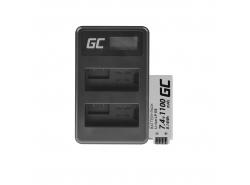 Green Cell ® Akku LP-E8 und Ladegerät LC-E6 für Canon PowerShot G15 G16 G1X G3X SX40 HS SX40HS SX50 HS SX60 HS 7.4V 800mAh
