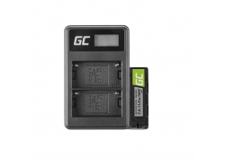 Green Cell ® Batterij NP-500 en lader BC-V615 voor Sony A58, A57, A65, A77, A99, A900, A700, A580