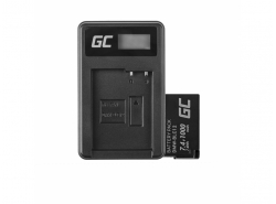 Green Cell Akku DMW-BLC12 und Ladegerät DE-A79B für Panasonic FZ2000, G81, FZ1000, FZ300, G6M, GX8M, G70M, G70KA, GX8, G70
