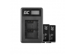Green Cell ® 2x Akku DMW-BMB9 (Half-Decoded) und Ladegerät DE-A83, DE-A84 für Panasonic DMC-FZ70, DMC-FZ60, DMC-FZ100