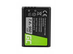 Green Cell ® Akku LP-E10 für Canon EOS Rebel T3, T5, T6, Kiss X50, Kiss X70, EOS 1100D, EOS 1200D, EOS 1300D 7.4V 950mAh