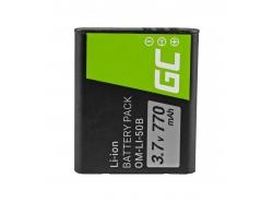 Green Cell ® Akku Li-50B für Olympus SZ-15 SZ-16 Tough 6000, 8000 TG-820 TG-830 TG-850 VR-370 XZ-1 XZ-10 3.7V 770mAh