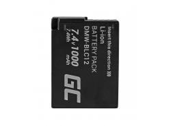 Green Cell ® DMW-BLC12-batterij voor Panasonic FZ2000, G81, FZ1000, FZ300, G6M, GX8M, G70M, G70KA, GX8EG-K, GX8 7.4V 1000mAh