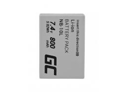 Green Cell ® Akku NB-10L voor Canon PowerShot G15, G16, G1X, G3X, SX40 HS, SX40HS, SX50 HS, SX60 HS 7.4V 800mAh