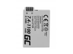 Green Cell ® Akku LP-E8 voor Canon EOS Rebel T2i, T3i, T4i, T5i, EOS 600D, 550D, 650D, 700D, Kiss X5, X4, X6 7.4V 1100mAh