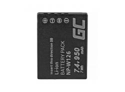Green Cell ® Batterij NP-W126 voor Fujifilm FinePix HS30EXR HS33EXR HS50EXR X-A1 X-A3 X-E1 X-E2 X-M1 X-T1 X-T2 7.4V 950mAh