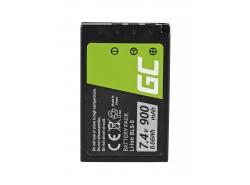 Batterij Green Cell ® BLS-50 BLS-5 voor Olympus E-M10 Mark II/III OM-D E-M10 Stylus E-PL2 E-410 E-420 E-450 7.4V 900mAh