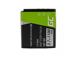 Green Cell ® Battery NP-50 for FujiFilm F100, F200, F300, F500, F600, F700, F80, X10, X20 3.7V 750mAh