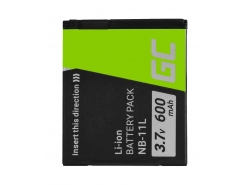 Bateria Green Cell ® NB-11L do Canon PowerShot A2300 IS A2400 IS A3400 IS A3500 IS SX400 SX410 SX420 IS 9 3.7V 600mAh