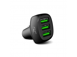 Green Cell GC PowerRide 54W 3xUSB 18W autolader met Ultra Charge snellaadtechnologie