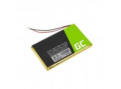 Batterij Green Cell ® IA2B309C4B32 voor GPS Garmin Nuvi 300 310 350 360 360T 370 Navgear Streetmate GP-43, Li-Polymer 1250mAh