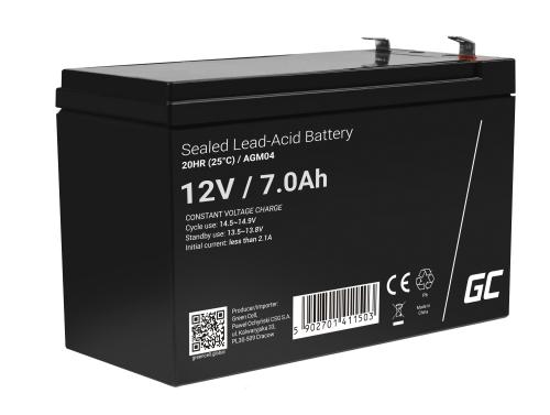 Green Cell ® Batterij AGM 12V 7Ah