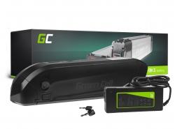 Green Cell® Fietsaccu 36V 12Ah Li-Ion E-Bike Down Tube Green Cell Accu voor Elektrische Fiets Batterij met Lader