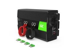 Green Cell ® 1000W / 2000W zuivere sinusomvormer omvormer 24V 230V omvormer