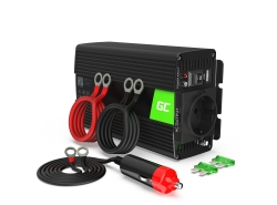 Green Cell ® 500W / 1000W zuivere sinusspanningsomvormer Omvormer 24V 230V omvormer