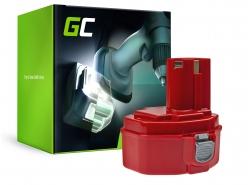 Green Cell® batterij accu Green Cell (2Ah 14.4V) voor Makita 1420 1433 4033D 4332D 4333D 6228D 6337D