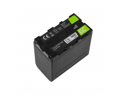 Accumulator Batterij Green Cell NP-F960 NP-F970 NP-F975 voor Sony 7.4V 7800mAh