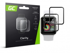 2x GC Clarity Gehard glas voor Apple Watch 4/5 44mm