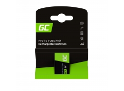 Batterij 1x 9V HF9 Ni-MH 8000mAh Green Cell