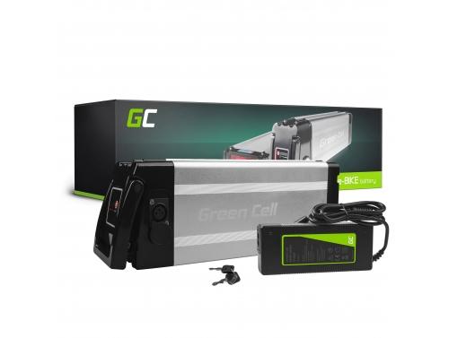 Green Cell® Fietsaccu 48V 11Ah Li-Ion E-Bike Silverfish Green Cell Accu voor Elektrische Fiets Batterij met Lader