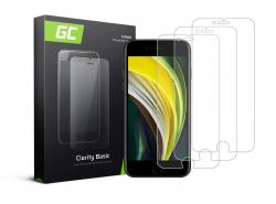 3x Gehard glas voor iPhone SE 2020 / 6 / 6S / 7 / 8 Beschermende film GC Clarity Helder Glas Film 9H