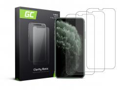 3x Gehard glas voor iPhone X / XS / 11 Pro Beschermende film GC Clarity Helder Glas Film 9H