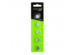 Blister 5x Green Cell batterij LR44 1.5V lithiumknoop