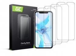4x Gehard glas voor Apple iPhone 11 / iPhone XR Beschermende film GC Clarity Helder Glas Film 9H