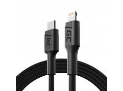 Green Cell GC Power Stream USB-C-kabel - Lightning 100 cm voor iPhone, iPad, iPod, Power Delivery (Apple MFi-gecertificeerd)