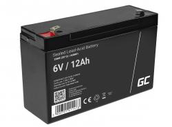 Green Cell® AGM 6V 12Ah VRLA batterij Accu voedingsaccu speelgoed voor kinderen Alarmsystemen