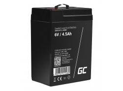 Green Cell® AGM 6V 4.5Ah VRLA batterij Accu voedingsaccu speelgoed voor kinderen Alarmsystemen