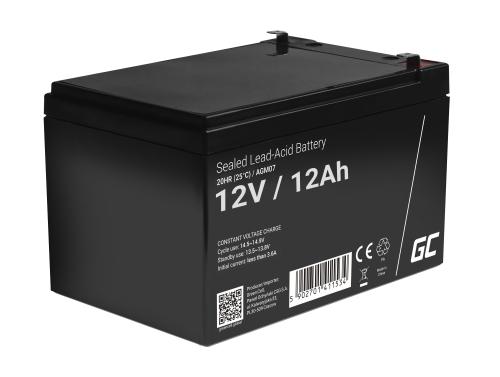 Green Cell® AGM 12V 12Ah VRLA batterij Accu voedingsaccu speelgoed voor kinderen Alarmsystemen