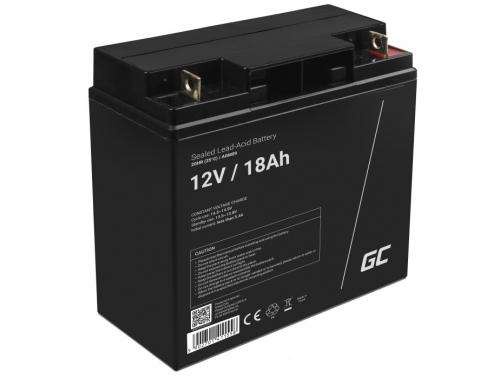Green Cell® AGM 12V 18Ah VRLA batterij Accu voedingsaccu maaier scooter boot vissersboot tuinhuis