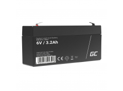Green Cell ® Gel Batterie AGM VRLA 6V 3.3Ah