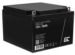 Green Cell ® -batterij AGM VRLA 12V 26Ah
