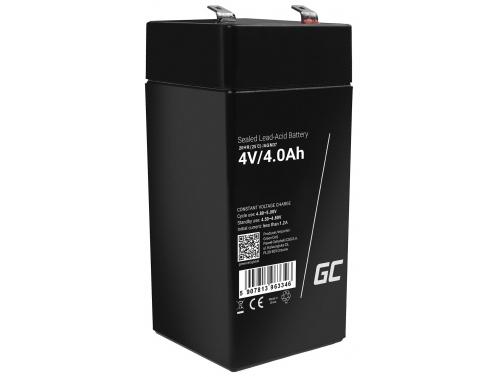 Green Cell® AGM 4V 4Ah VRLA batterij Accu voedingsaccu speelgoed voor kinderen Alarmsystemen