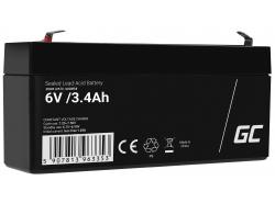 Green Cell ® Batterij AGM VRLA 6V 3.4Ah