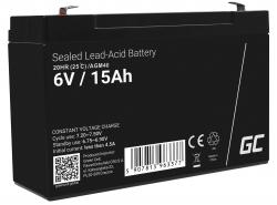 Green Cell ® Batterij AGM VRLA 6V 15Ah
