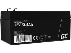 Green Cell ® -batterij AGM VRLA 12V 3.4Ah
