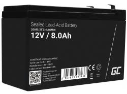 Green Cell ® -batterij AGM VRLA 12V 8Ah