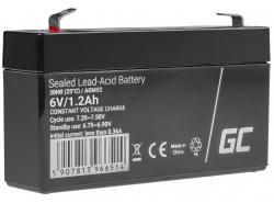 AGM GEL Batterie 6V 1,2Ah Blei Akku Green Cell für Alarmsysteme und Spielzeug